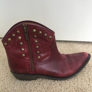 Lucky Brand Red Mini Cowgirl Boots